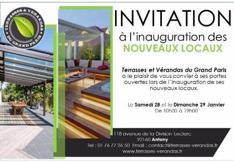 Portes ouvertes : Inauguration des nouveaux locaux d'Antony . Terrasse bois 92