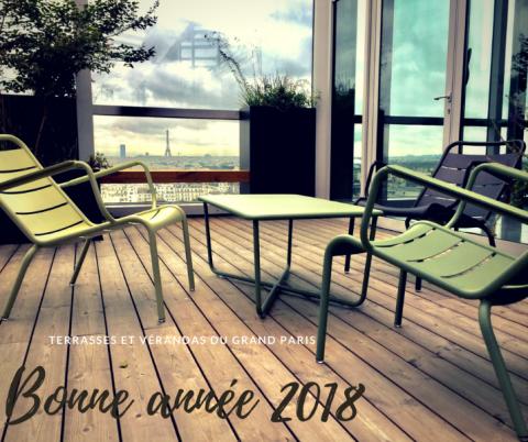 Bonne année 2018 , que vos projets de terrasse bois deviennent réalités avec notre équipe