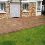 Terrasse bois et maison en meulière, une association tout en sobriété Antony 92