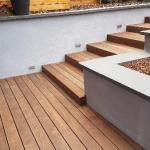 Réalisation d'un accès et d'une terrasse en thermofrêne