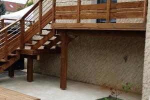 terrasse bois sur structure autoportante