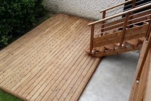 Terrasse thermopin et garde corps