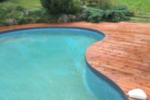 Pourtour de piscine en bois 92