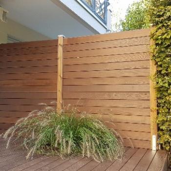 Terrasse bois à Châtillon 92 et Claustra bois