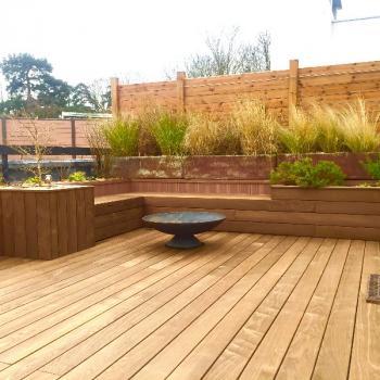 Toit-terrasse avec revetement bois sur SCEAUX 92