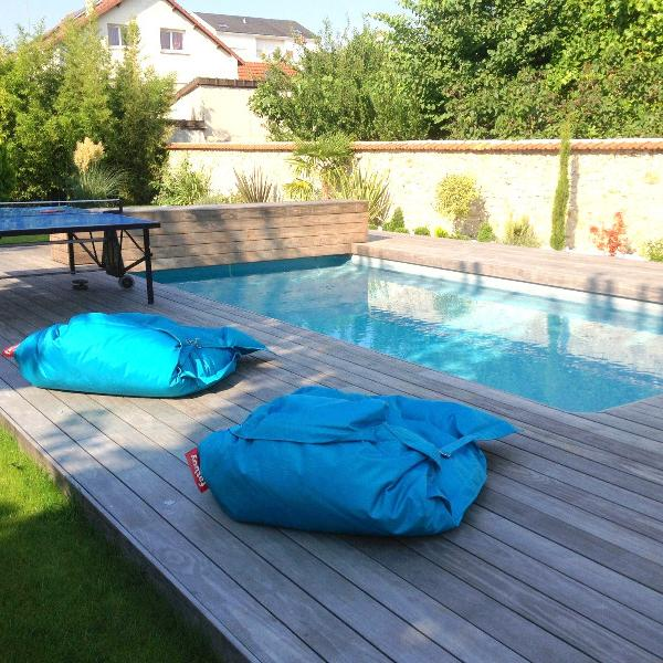 Terrasse kebony : plage de piscine