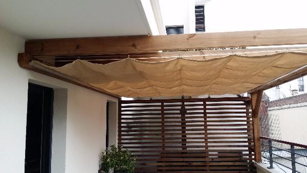 pergola bois et solution d 39 ombrage en velum entreprise terrasse meudon. Black Bedroom Furniture Sets. Home Design Ideas