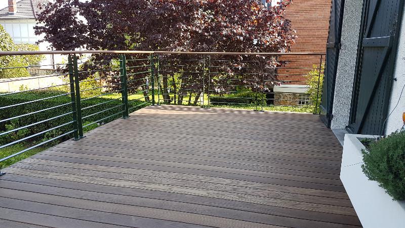 Terrasse bois sur lev e pour cr er une continuit de la - Terrasse bois surelevee ...