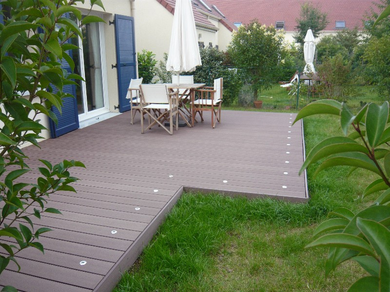 Pose Terrasse En Composite Finest Pose Terrasse En Composite With